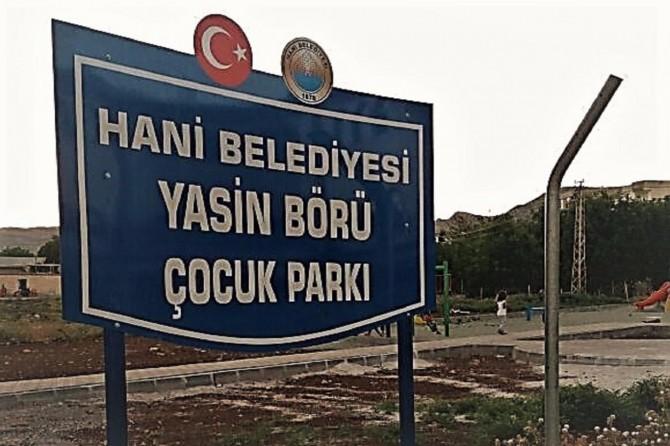 Diyarbakır Hani'de yapımı devam eden parka Yasin Börü adı verildi