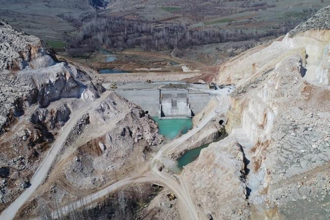 Ergani Barajı'nda çalışmalar sürüyor