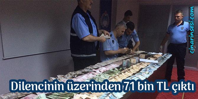 Balıkesir'de dilencinin üzerinden 71 bin TL çıktı foto