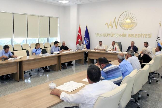 Van Büyükşehir Belediyesi Zabıta Daire Başkanlığı 5'inci toplantısı gerçekleşti