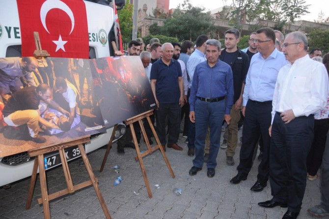 Mardin'de 15 Temmuz konulu fotoğraf sergisi açıldı