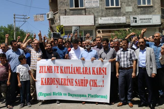 Ergani'de Mescid-i Aksa'ya destek açıklaması