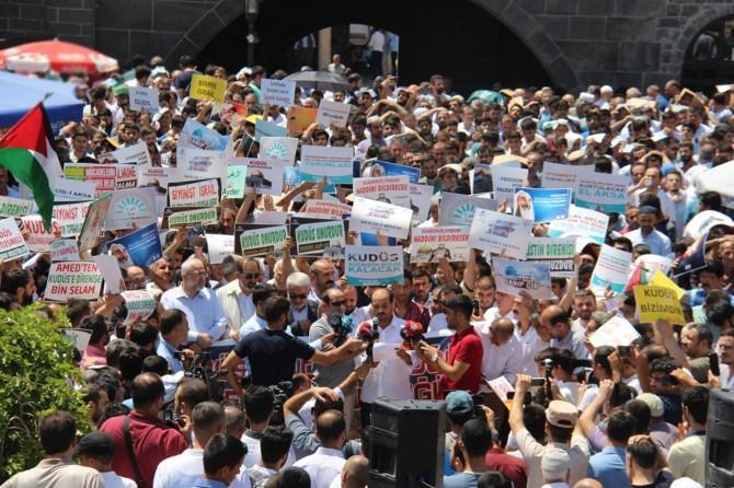 Diyarbakırlılar Mescid-i Aksa için tek yürek oldu