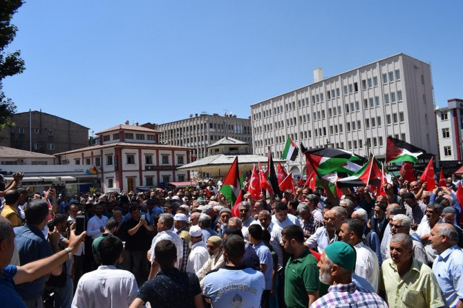 Malatya'daki STK'lardan Siyonist işgalcilere tepki