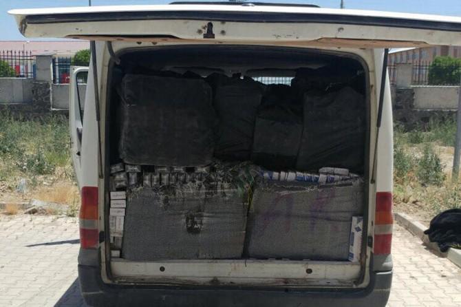 Van Erciş'te 29 bin paket kaçak sigara ele geçirildi