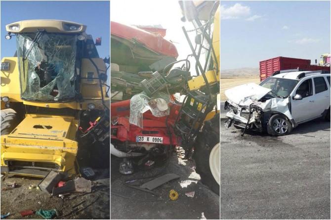 Elazığ Kovancılar'da trafik kazası: Biri ağır 2 yaralı