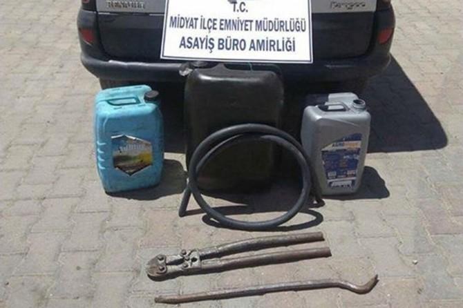Mardin'de mazot hırsızlığı operasyonu: 2 tutuklama