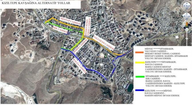Mardin'de alternatif yol güzergâhları belirlendi