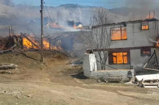 Valilikten yanan 27 binaya ilişkin açıklama