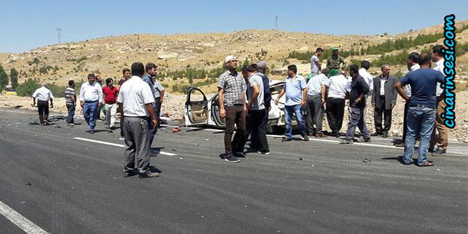 Çalışma yapılan Çınar-Mardin yolunda yolda kaza: 2 ölü, 1 ağır yaralı