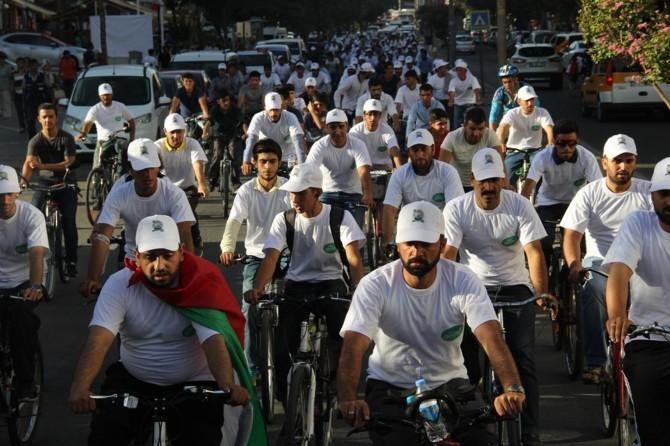 HÜDA PAR Gençlik Kolları Diyarbakır'da Kudüs için pedal çevirdi