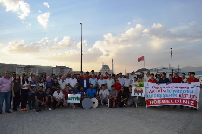 Kardeş Şehirler Projesi kapsamında Artvinliler Bitlis'te