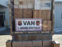 Van'da 33 bin paket kaçak sigara ele geçirildi