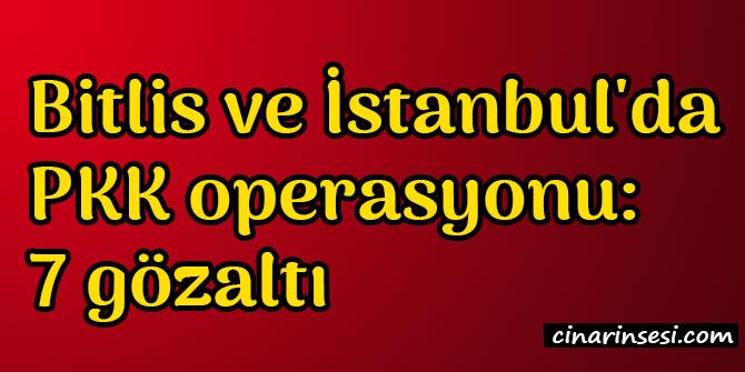 Bitlis ve İstanbul'da PKK operasyonu: 7 gözaltı