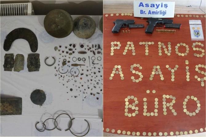 Ağrı Patnos'da tarihi eser kaçakçılığı ve dolandırıcılık vakası