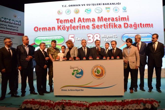 Orman ve Su İşleri Bakanı Eroğlu Hakkari'de