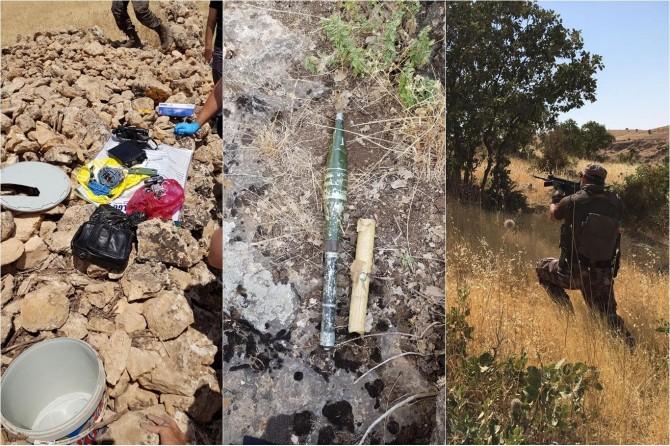 Yakalanan PKK'li saklanan malzemelerin yerini gösterdi