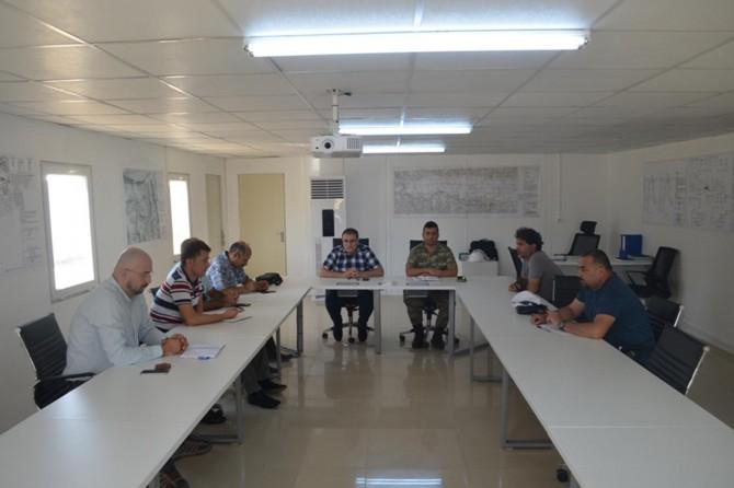 Hasankeyf kale güçlendirilmesi projesi güvenlik toplantısı yapıldı