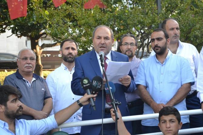 Arakan'da işlenen vahşet Bursa'da lanetlendi