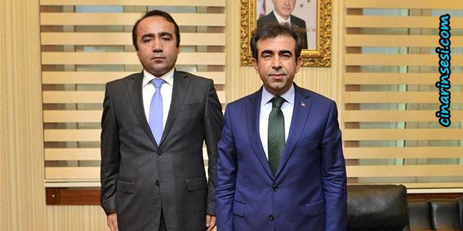 Çınar Kaymakamı İsmail Şanlı'dan, Diyarbakır valisine veda ziyareti
