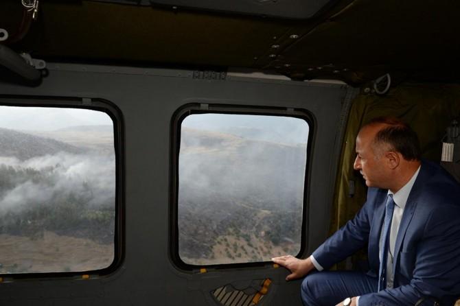 Vali Azizoğlu yangın bölgesinde