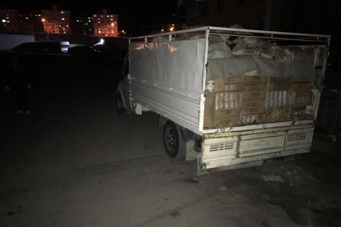 Van'da kaçak sigara ele geçirildi