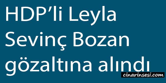 HDP'li Leyla Sevinç Bozan gözaltına alındı