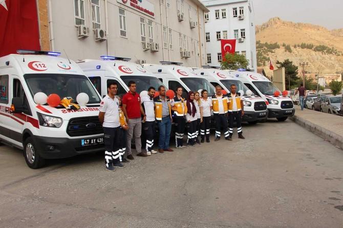 Mardin'de 5 ambulans hizmete başladı