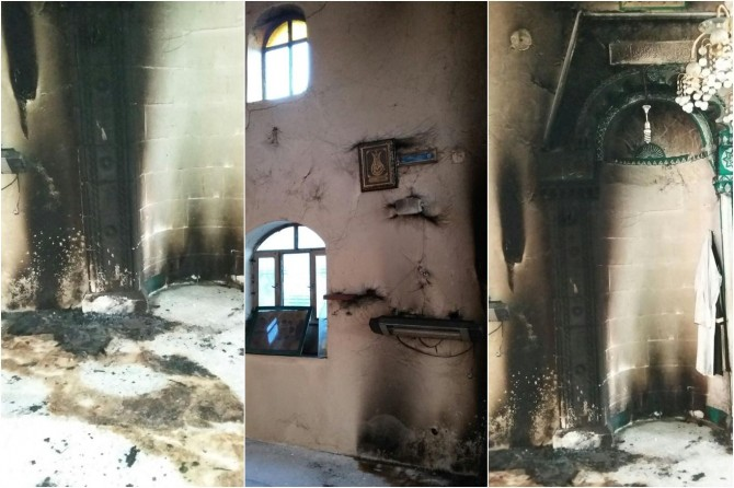 Camide çıkan yangın maddi hasara yol açtı