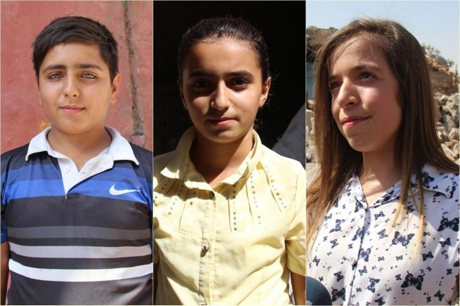 Diyarbakır  Surlu öğrencilerden okul nakline tepki