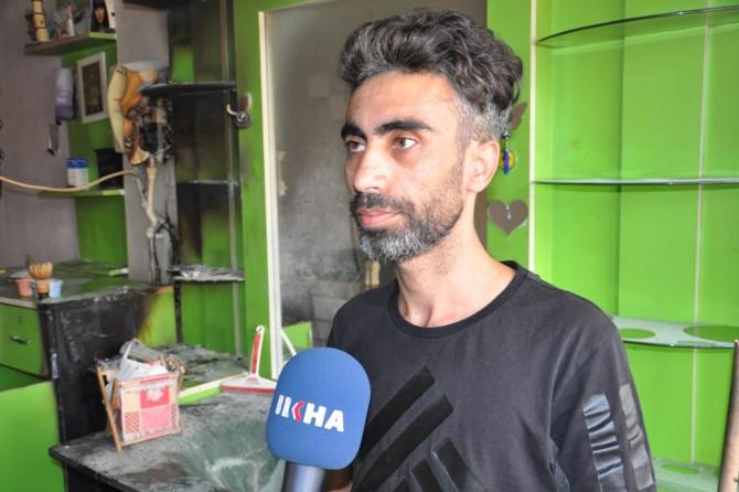 İş yeri yanan Suriyeli yardım istedi