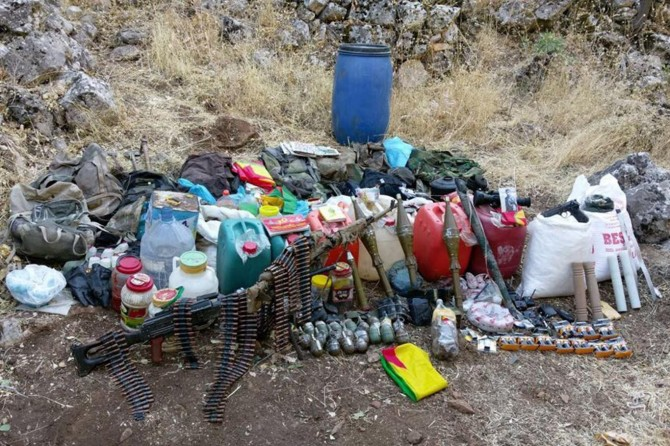 Batman'da PKK'ye ait çok sayıda mühimmat ele geçirildi