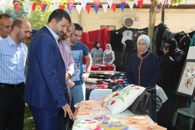 Şanlıurfa'da mülteciler tarafından kermes açıldı
