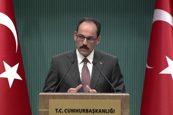 Cumhurbaşkanlığı Sözcüsü Kalın'dan referandum açıklaması