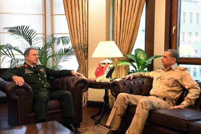 Genelkurmay Başkanı Akar, Iraklı mevkidaşı ile görüştü