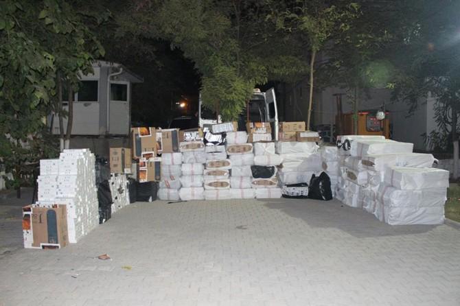 Bismil'de 750 bin paket kaçak sigara ele geçirildi