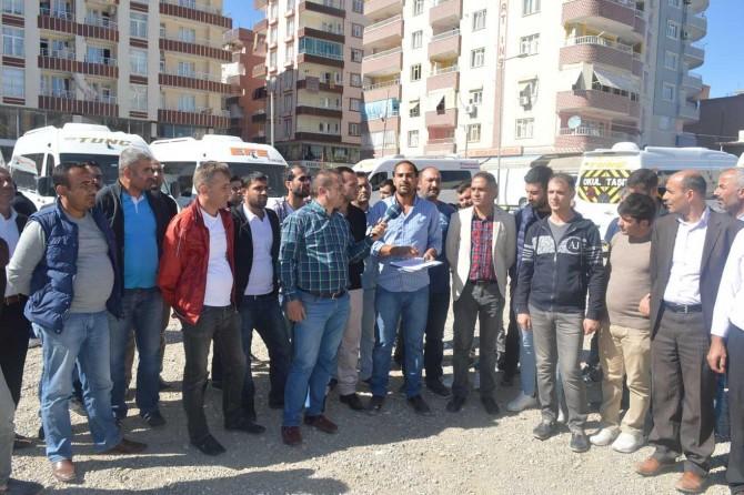 Siirt'teki okul servisçilerden açıklama