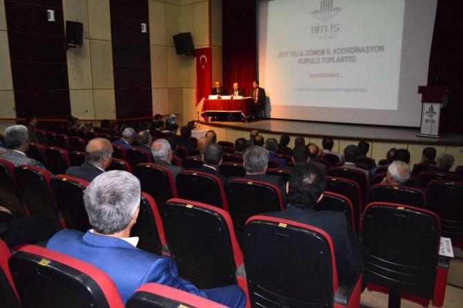Bitlis'te 2017 yılının son koordinasyon toplantısı yapıldı