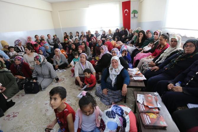 Gaziantep'te kadınlara soba yakma eğitimi verildi