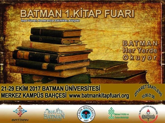 Batman'da onlarca yazarın katılımıyla kitap fuarı açılıyor