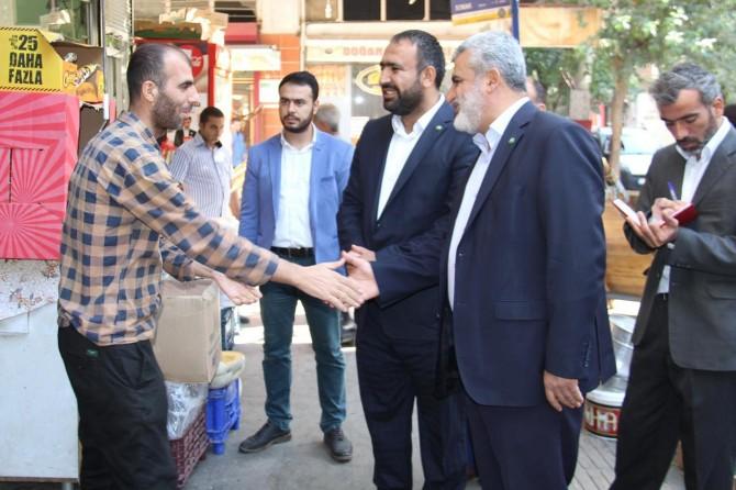 HÜDA PAR Diyarbakır esnafının sorunlarını dinlemeye devam ediyor