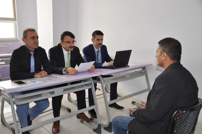 Okullara alınacak güvenlik görevlileri için mülakat yapıldı