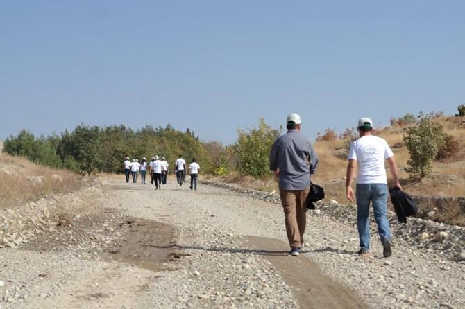 Malabadi Tabiat Parkı'nda doğa yürüyüşü yapıldı