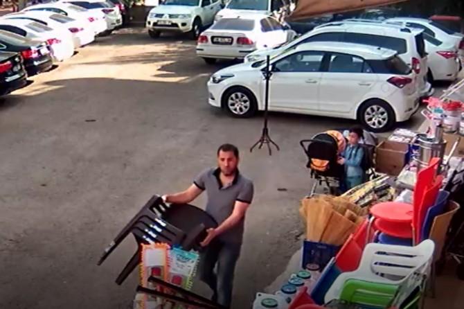 Diyarbakır'da iş yerindeki hırsızlık kameraya yansıdı video