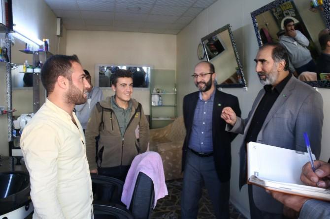 HÜDA PAR Ergani'de esnaf ziyaretinde bulundu