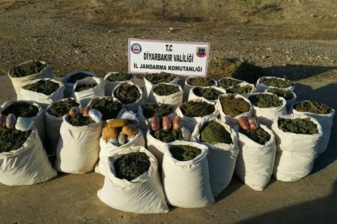Diyarbakır Lice'de 744 kilo esrar ele geçirildi