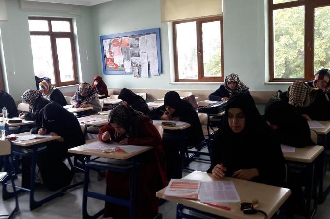 Kayseri'de yediden yetmişe meal sınavı heyecanı