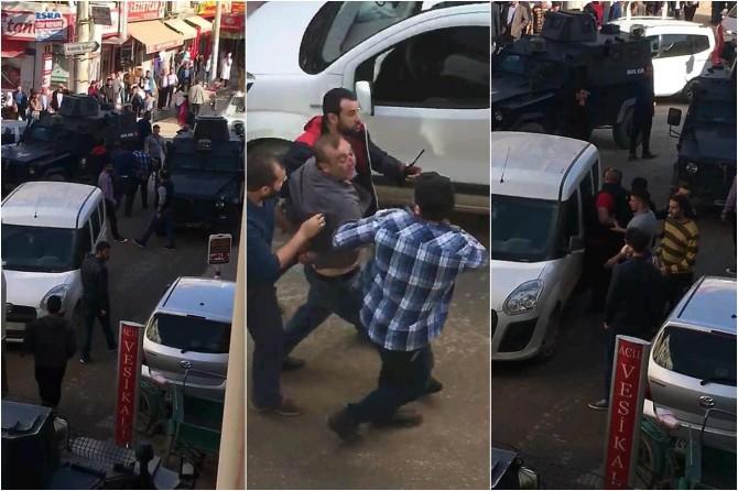 Mardin Nusaybin'de polis ile sürücü arasında arbede: 2 gözaltı