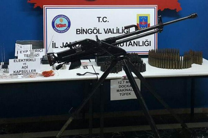 Bingöl'de uçaksavar ele geçirildi