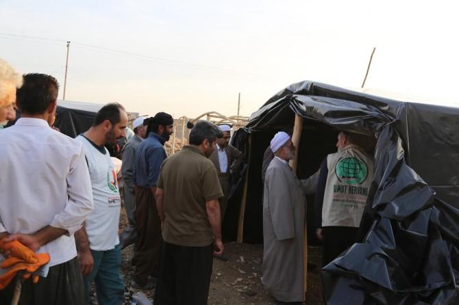 Kerwana Umûdê li gundên Kurdistana Îranê lêkolînan kir û ji xelkê re kon belav kir